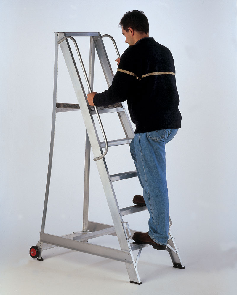 Aluminium Mobile Safety Steps Hulley Ladders