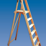 Timber Contractors Platform Wooden Step Ladders