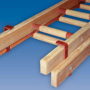 Timber Double Section Wooden Ladder
