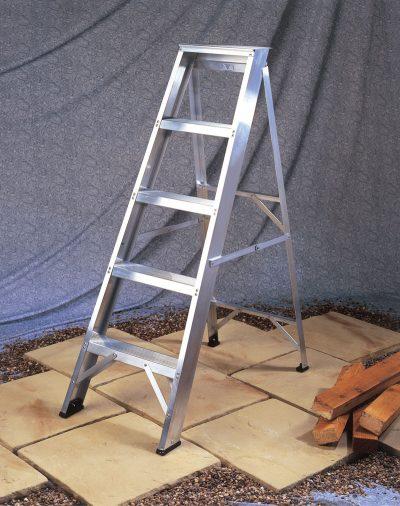 Industrial Aluminium Swingback Step Ladders