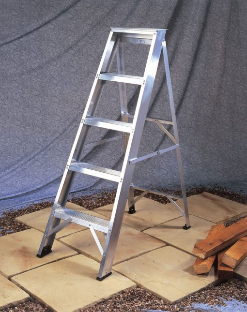 Industrial Aluminium Swingback Step Ladders