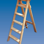 Timber Industrial Swingback Wooden Step Ladders