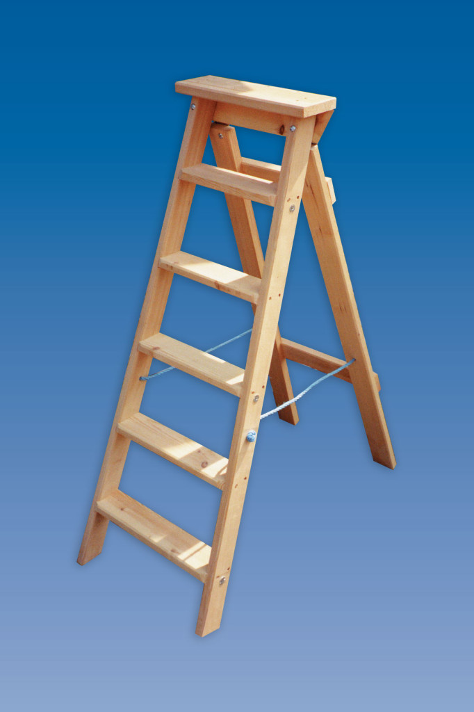Industrial Swingback Wooden Step Ladders Hulley Ladders