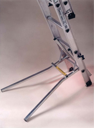 LadderMate attaches easily and quickly to the base of your ladder and prevents the ladder sliding down the wall