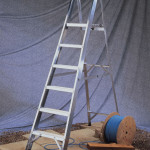 Industrial Aluminium Platform Step Ladders