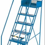 Steel Mobile Safety Warehouse Steps