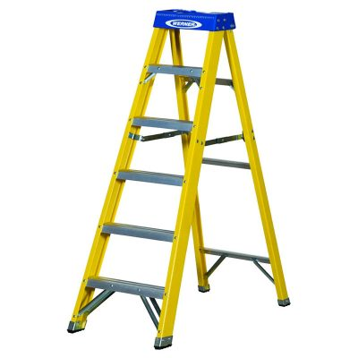 Werner Fibre Glass Swingback Step Ladders