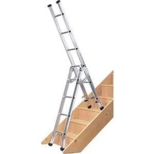 Abru Werner Aluminium 3 Way Multi Ladder - stairwell ladder