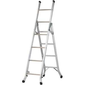 Abru Werner Aluminium 3 Way Combination Step Ladder