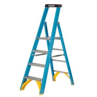 Industrial Glass Fibre Platform Step Ladders