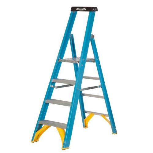 Fibreglass Platform Industrial Step Ladders Hulley Ladders