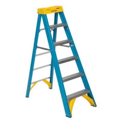 Industrial Glass Fibre Swingback Step Ladders