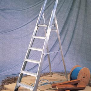 Light Industrial Aluminium Platform Step Ladders