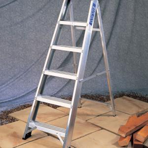 Light Industrial Aluminium Swingback Step Ladders