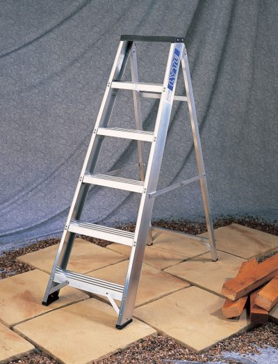 Light Industrial Aluminium Swingback Step Ladders