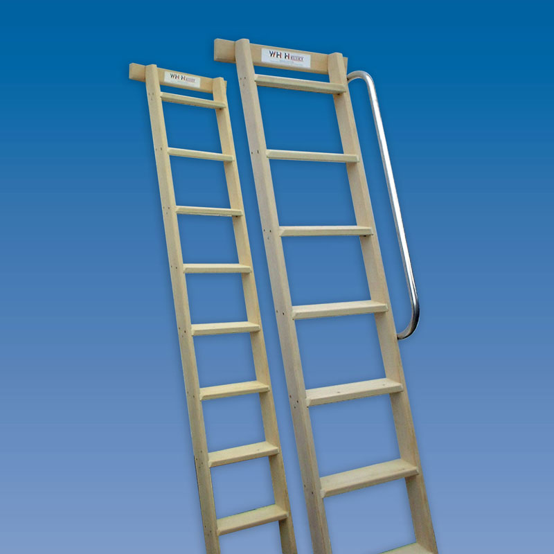 Timber Shelf Ladder Hulley Ladders