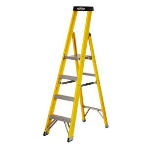 Trade Platform Glass Fibre Step Ladders