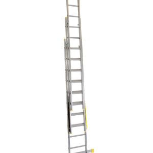Werner Triple Box Section Aluminium Reform Ladder extended