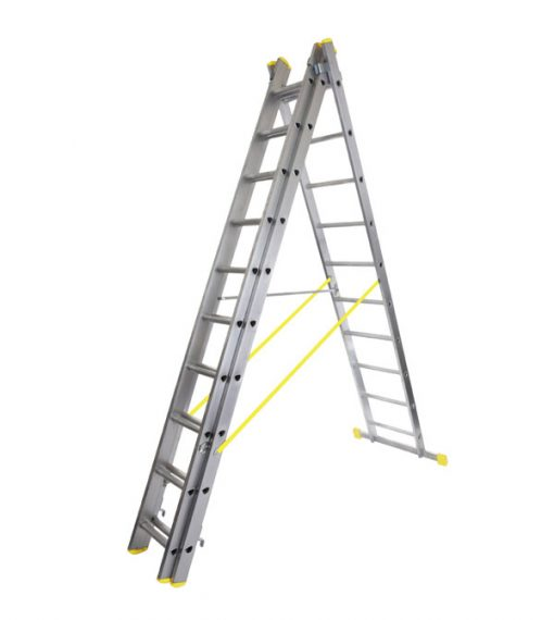 Werner Triple Box Section Aluminium Reform Step Ladder