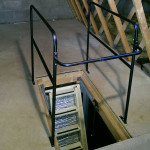 Black ballustrade for loft openings. Optional extra with the Skylark Electric Loft Stairs