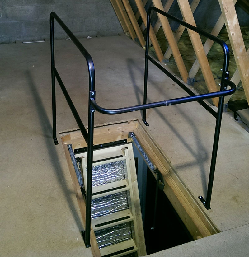 Metal Loft Surround Rail Balustrade Hulley Ladders