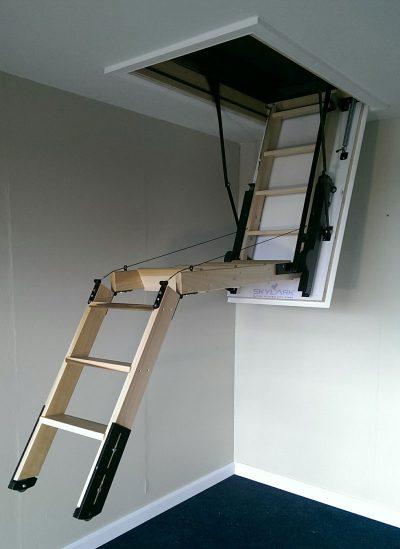 Skylark electric timber attic stairs